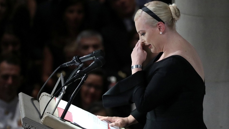 VERBATIM: Meghan McCain recalls intimate moments in eulogy