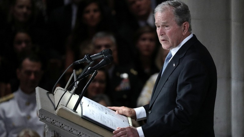 Bush: 'Above all, John detested the abuse of power'