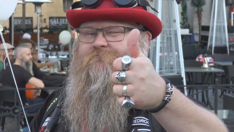 Hundreds celebrate World Beard Day in Sweden