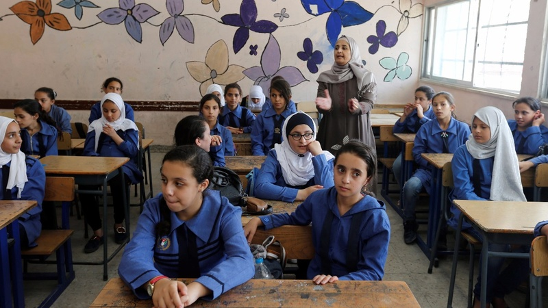 Palestinian refugee schools open despite aid cut