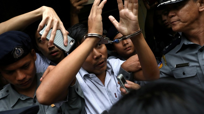 Myanmar media condemn jailing of Reuters reporters