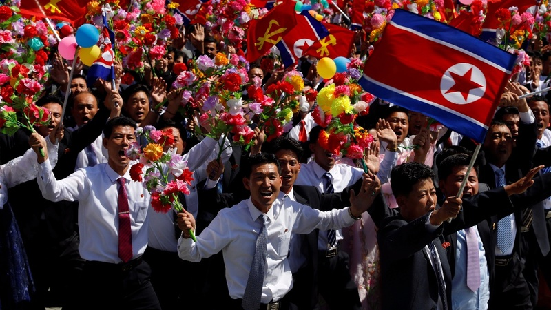 North Korea celebrates without ballistic missiles