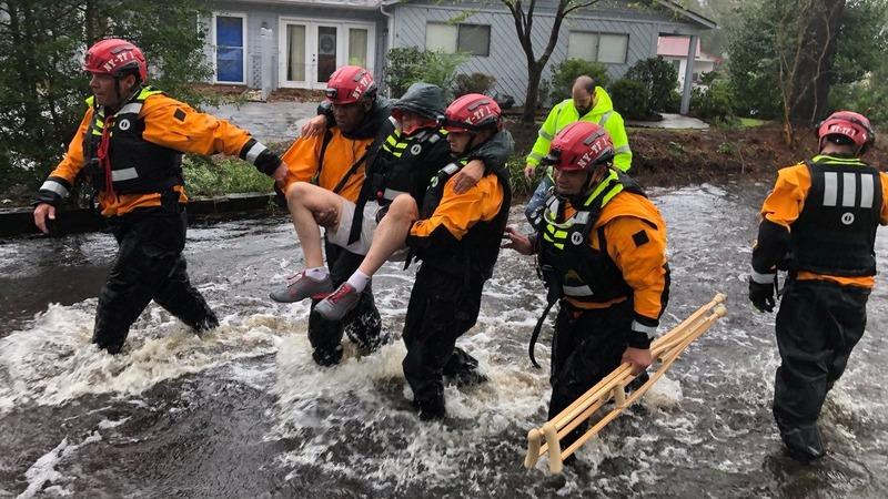 A downgraded Florence swamps the Carolinas