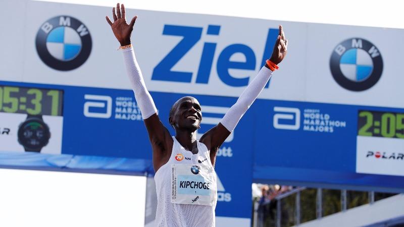 Kenya's Kipchoge shatters marathon world record