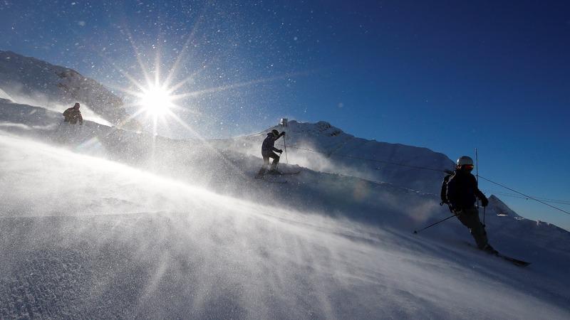 Global warming is melting Swiss snowy peaks