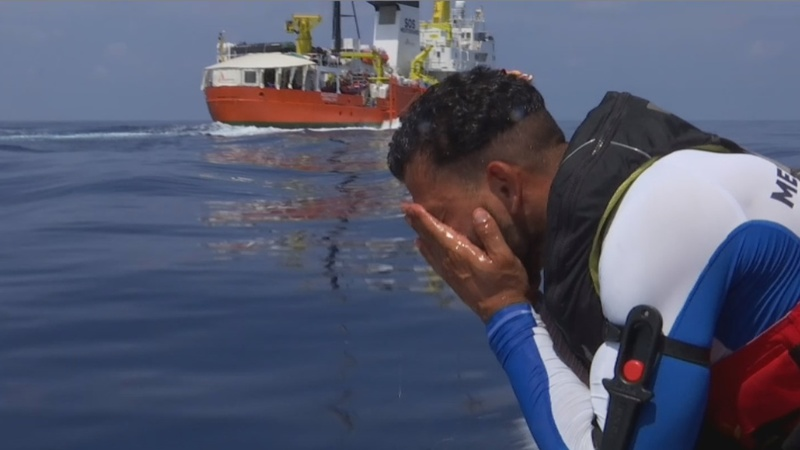 The migrant rescued at sea who now rescues others