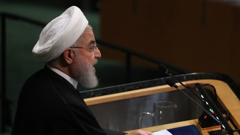 U.S., Iran exchange warnings on world stage