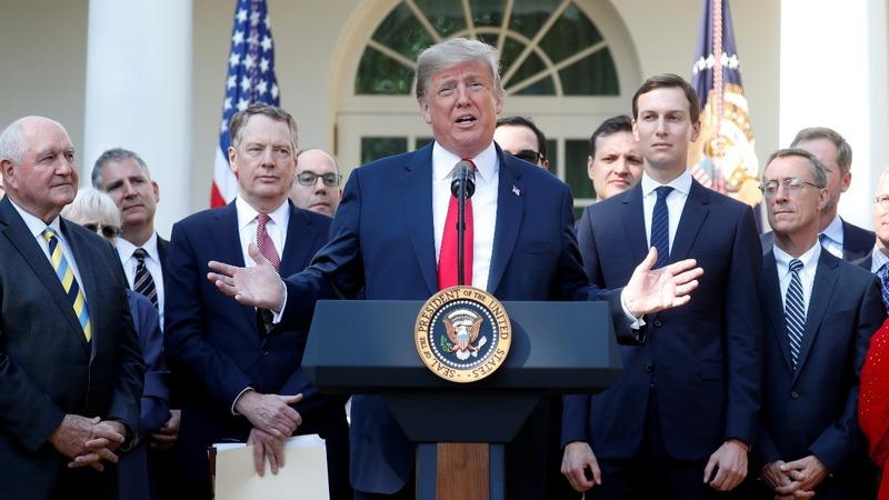 VERBATIM: Trump says 'USMC' pact will boost jobs