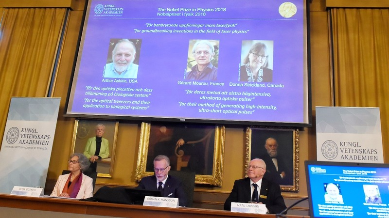 Lasers and optical tweezers get a Nobel prize