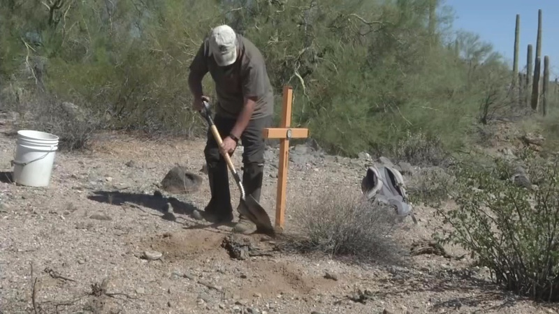Desert crosses mark end of 'an American dream'