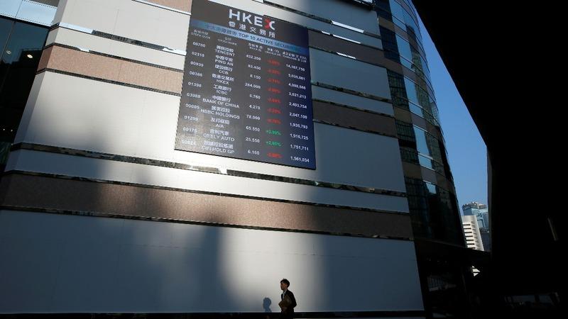China tech shares tumble in Hong Kong