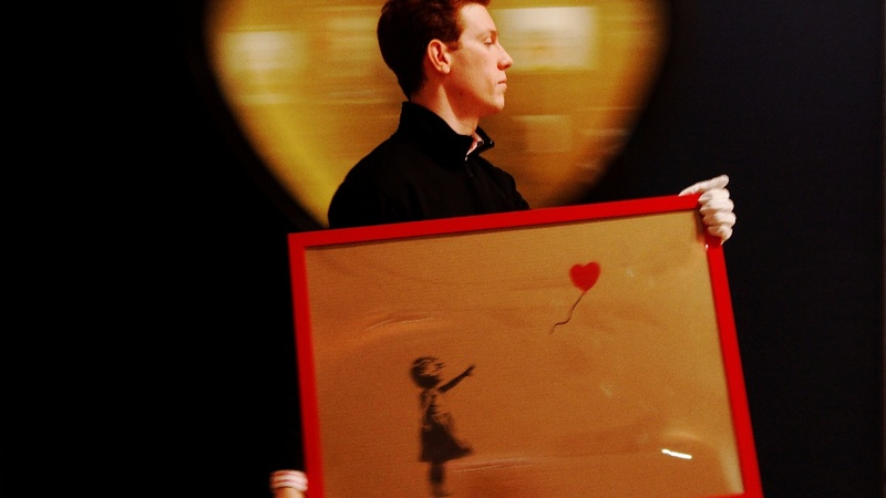 Going, going, gone: Banksy art shreds after sale