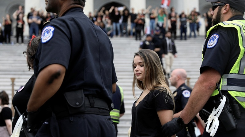 INSIGHT: Anti-Kavanaugh protesters arrested