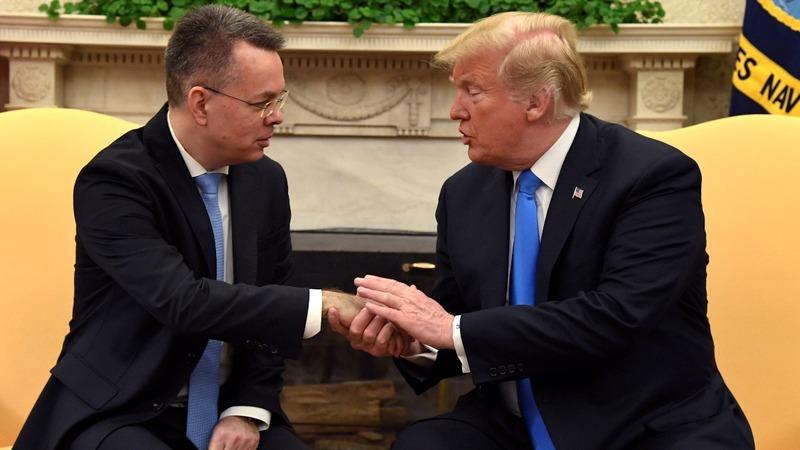 Trump hails Turkey for pastor's release