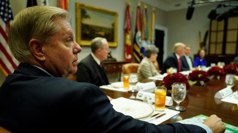 Top GOP senator breaks with Trump, slams Saudis
