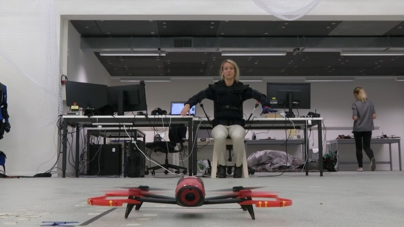 Piloting a drone with your body