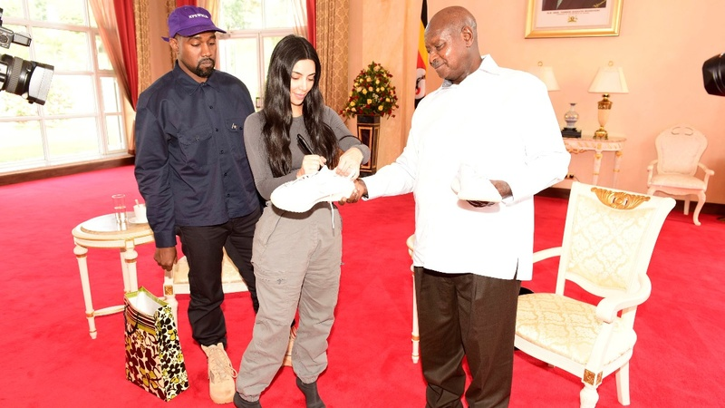 Kanye and Kim, taking it Yeezy in Uganda