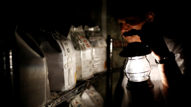 In aging Japan, abandoned burial urns pile up