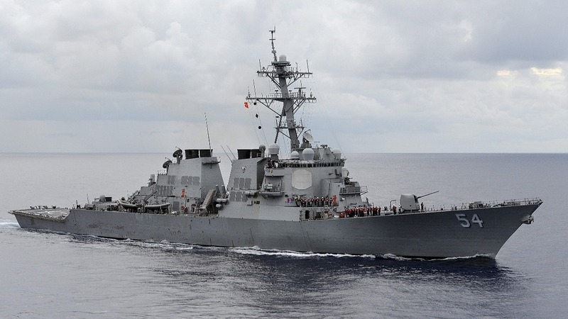 U.S. sends warships to the Taiwan Strait