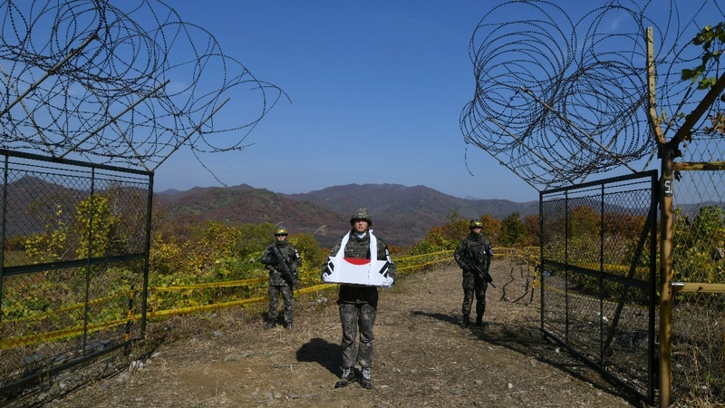 South Korea exhumes remains of soldiers in DMZ