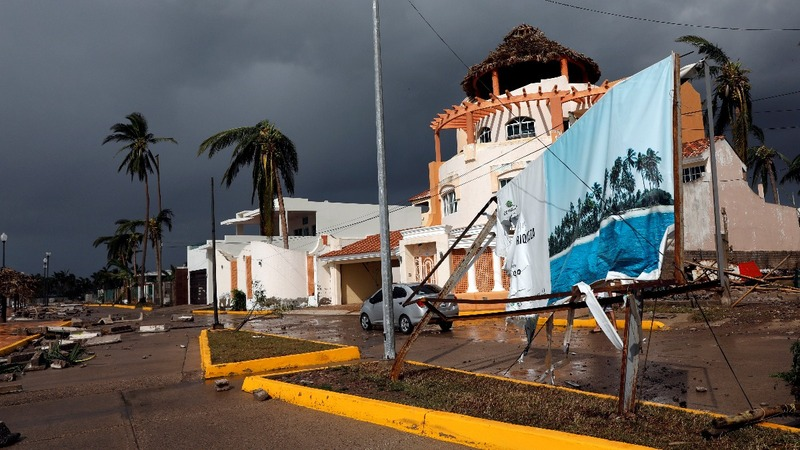 Hurricane destroys village on Mexico's Pacific coast