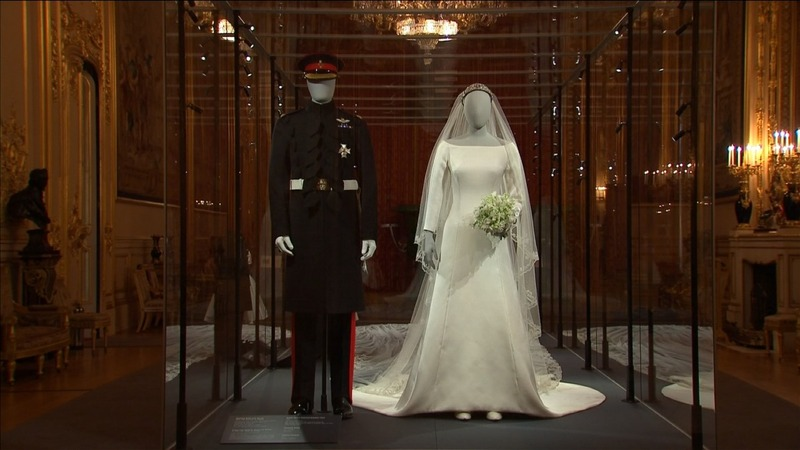 INSIGHT: Meghan Markle's wedding dress on display