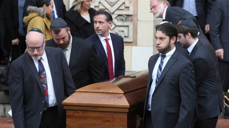 Trump visits Pittsburgh amid funerals, protests