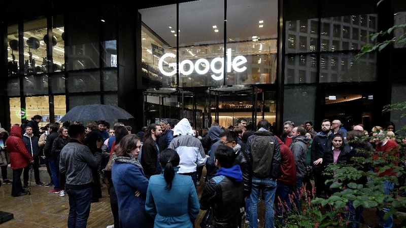 Google staffers walk out over harassment