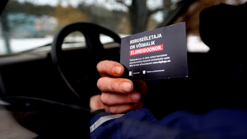 Estonia: Donor cards drive home risk of speeding