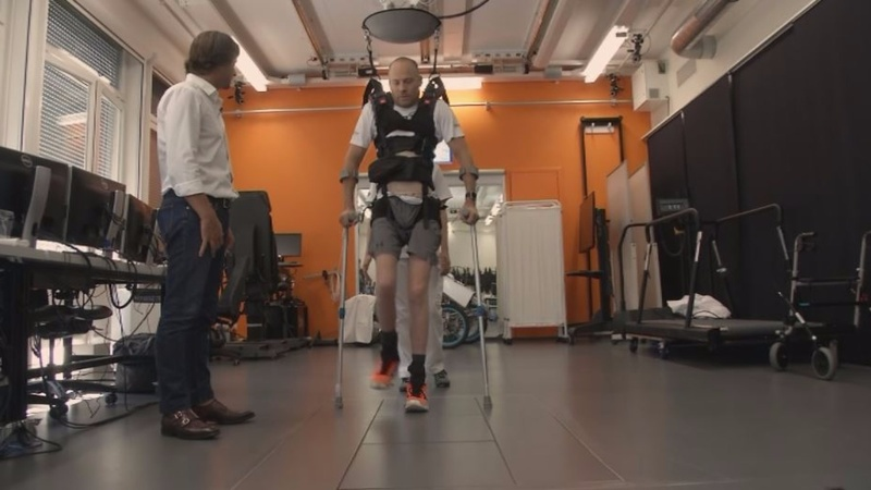 Paraplegics walk again with spinal implant