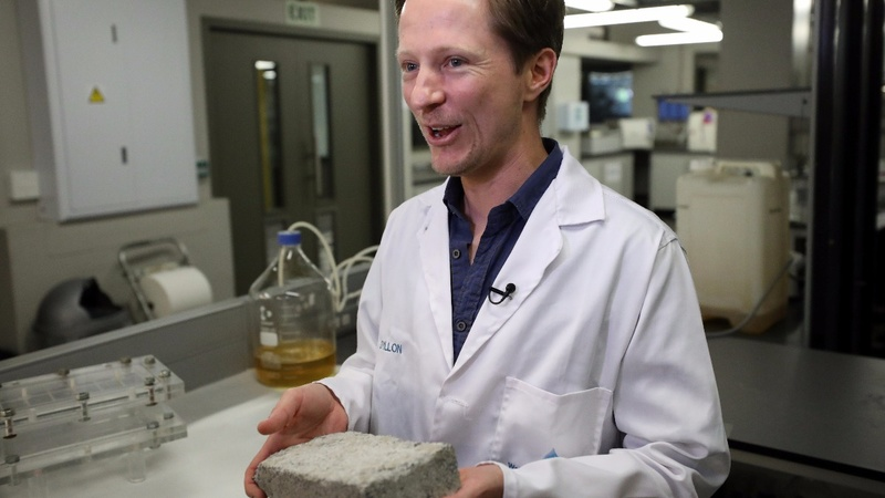 'Liquid gold' - the bricks made from human urine