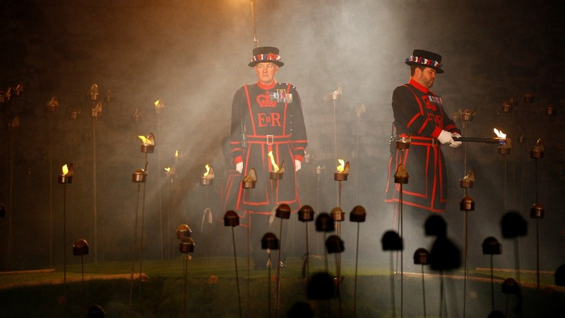 INSIGHT: Tower of London lights up for WW1 centenary