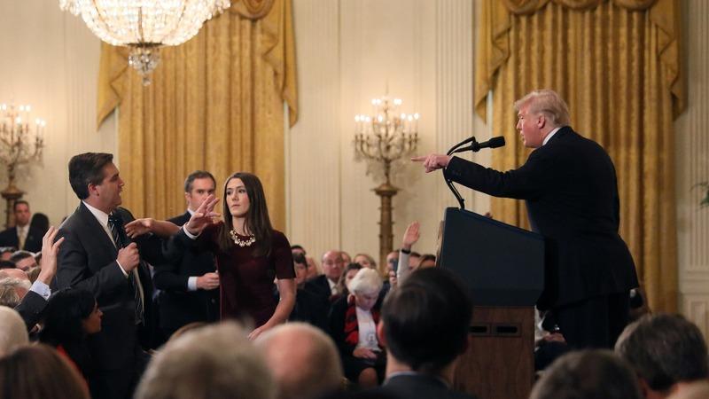 VERBATIM: Trump clashes with reporters