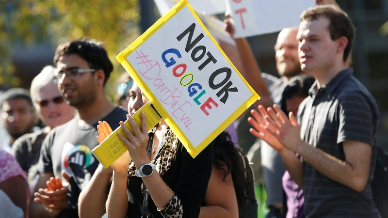 After protests, Google makes changes to sexual harassment policy
