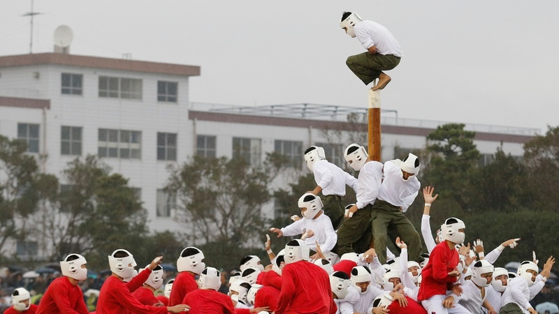 Military cadets take on Japan's most violent sport