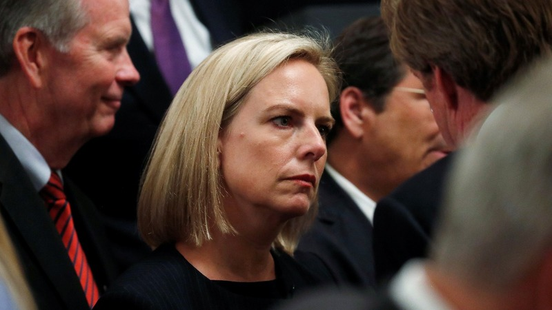 DHS chief Nielsen headed for the exit -sources