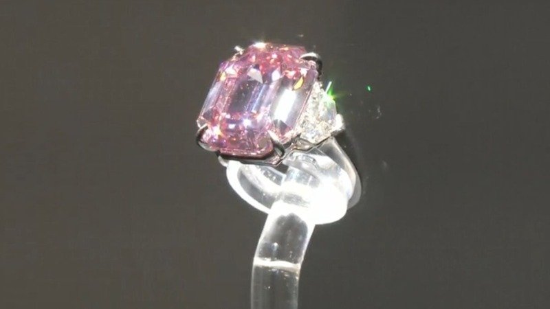 'Pink Legacy' diamond sold for record $50 million