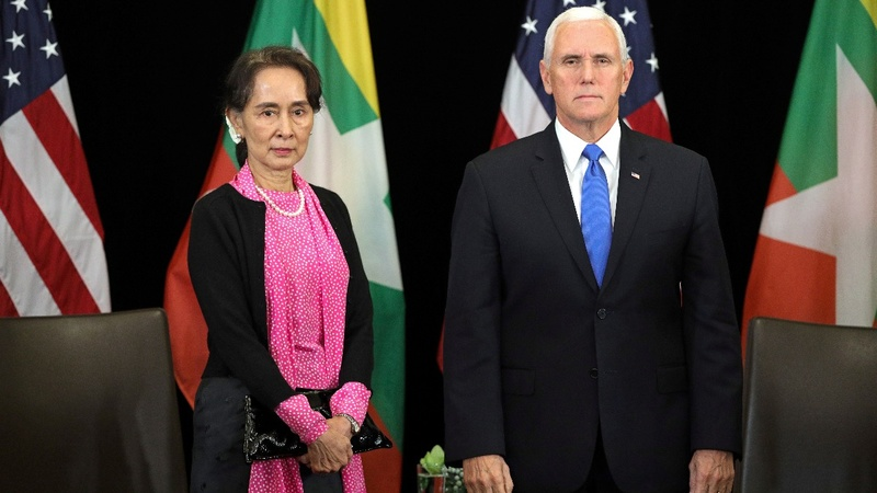 Pence calls persecution of Rohingya inexcusable