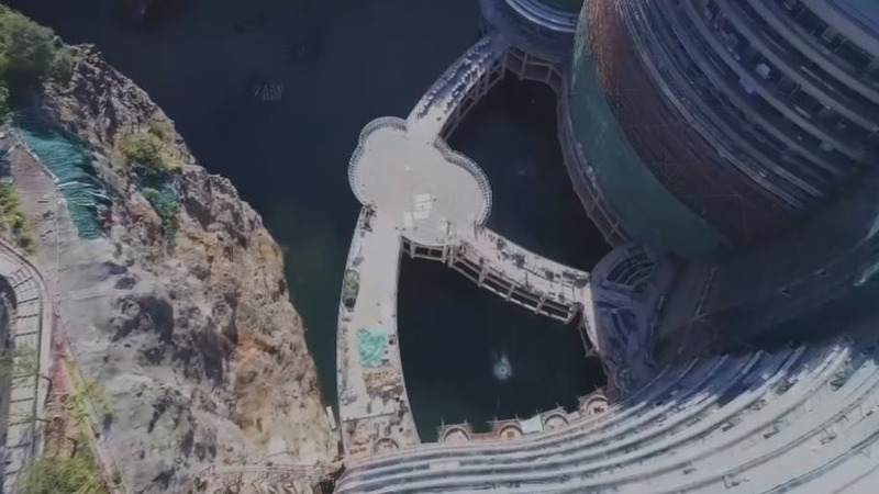 Welcome to China's gravity-defying quarry hotel