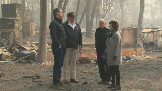 Trump tours fire-ravaged California