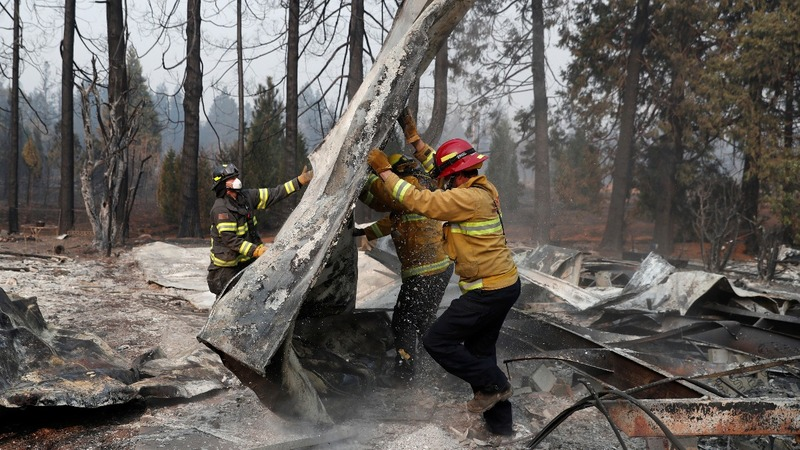 Grim search for missing amid California wildfires