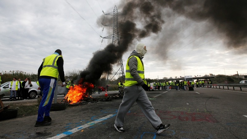 Macron's popularity hit by French fuel tax fury