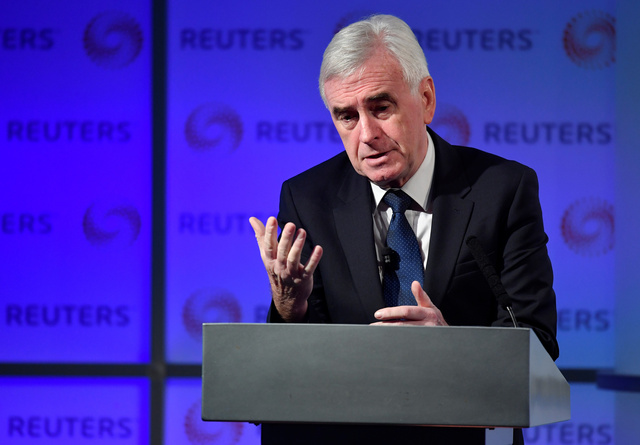 """""""We certainly couldn't support no deal"""" UK Labour Party's McDonnell on Brexit"""