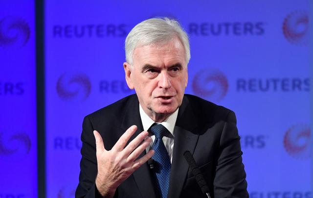 UK Labour Party's McDonnell on financial regulation plans
