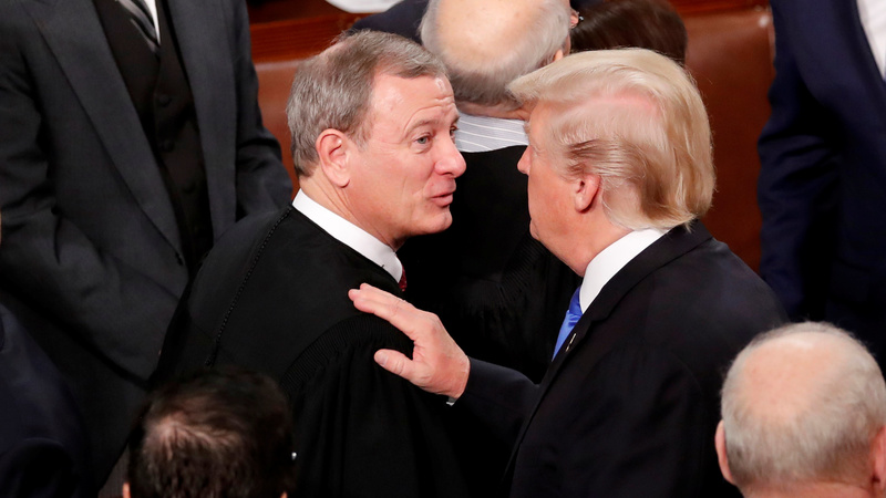 U.S. chief justice Roberts rebukes Trump