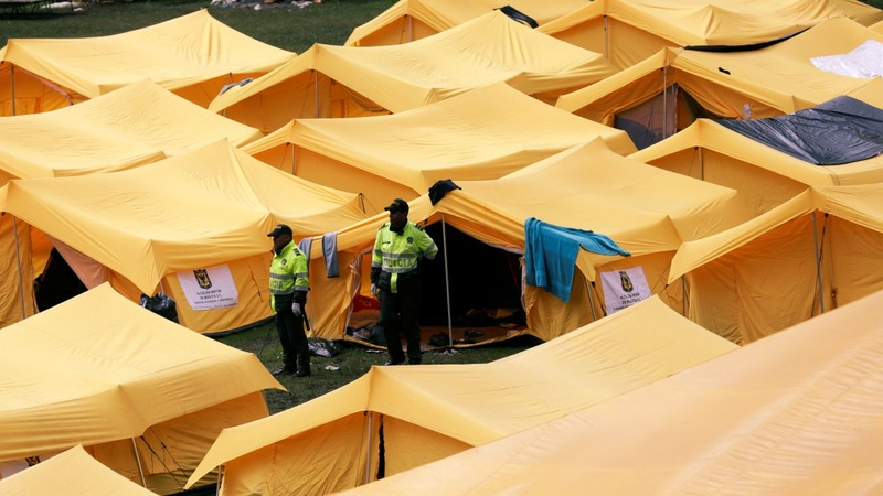 Venezuelan migrants eye new tent city in Bogota