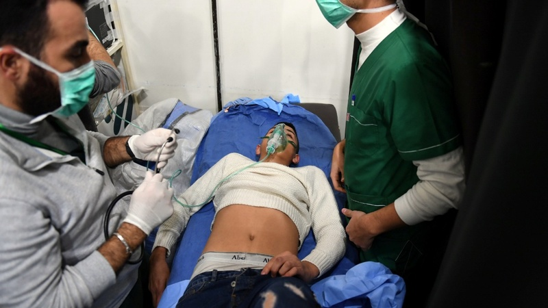 Syria, Russia accuse rebels of Aleppo gas attack
