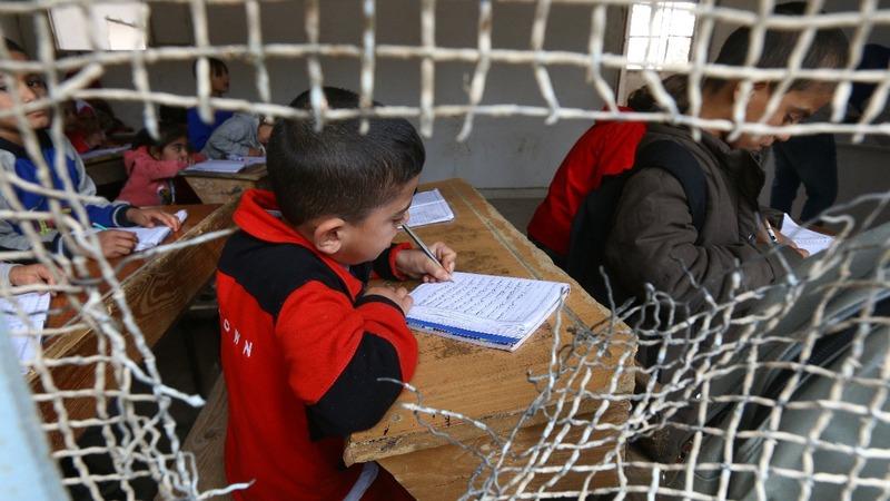 Raqqa's schools resemble battlegrounds