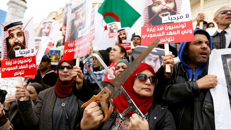 Khashoggi and Yemen haunt Saudi prince on tour