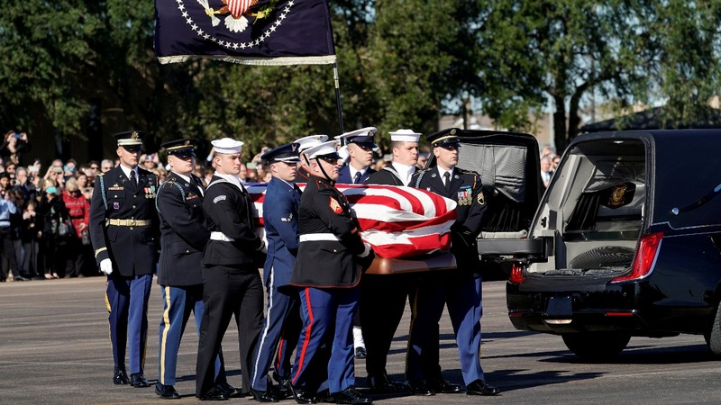 Mourners flock to honor George H.W. Bush